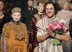 1. März 2014 in Paris mit Ehemann Andreas. (Bild: Keystone)