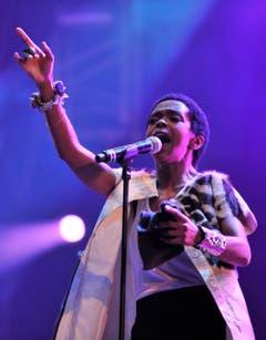 Hands up, Baby hands up... Lauryn Hill im Element. (Bild: Reto Martin)