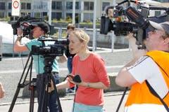 Grosses Interesse der Medien. (Bild: Rudolf Hirtl)