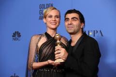 """Eine Award für den besten fremdsprachigen Film erhielten Schauspielerin Diane Kruger und Regisseur Fatih Akin für """"Aus dem Nichts"""" geehrt. (Bild: Keystone)"""