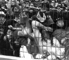 Erdrückt, zerquetscht, zu Tode getrampelt: Die Tragödie im Fanblock des Hillsborough-Stadions nimmt ihren Lauf. (Bild: Keystone)