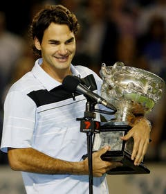 2007 Australian Open gegen Fernando Gonzalez (ESP) 7:6, 6:4, 6:4 (Bild: Rob Griffith / Keystone)