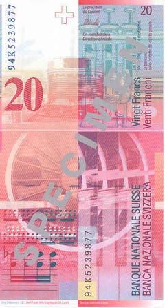 """Das angewandte Sicherheitskonzept geht von den ehemals versteckten Sicherheitsmerkmalen hin zu den transparenten. (Rückseite: das Orchesterwerk, Lokomotive """"Pacific 231"""", die Partitur, das Arbeitsinstrument). (Bild: Archiv der SNB)"""