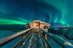 Schlauris Lieblingsbild zeigt das Spiel der Polarlichter auf der norwegischen Insel Senja. (Bild: Cyrill Schlauri)