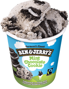 "Amerikas berühmter Glacehersteller ""Ben & Jerry's"" hat die Sorte ""Mint Chocolate Cookie"" im Sortiment. (Bild: benjerry.com)"