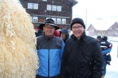 Der Ausserrhoder Landammann Matthias Weishaupt (links) mit dem Solothurner Landammann Roland Fürst. (Bild: Patrik Kobler)