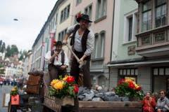 """Mitglieder der Gruppe """"Jodlerklub Passwang mit Steinbrecher"""". (Bild: Keystone)"""