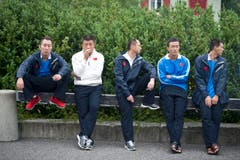 Teilnehmer der Seilzieh-WM in Appenzell. (Bild: Michel Canonica)