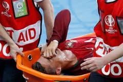 Bittere Tränen bei der Auswechslung von Ronaldo. (Bild: Keystone)