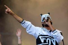 Der Rapper mit der Pandamaske: Cro. (Bild: Urs Jaudas)