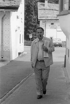 Bundesrat Otto Stich in den Ferien in Sils Maria im Engadin (1985). (Bild: Keystone)