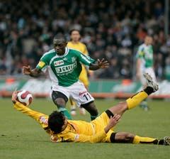 Szene aus einem Duell gegen die Berner Young Boys. (Bild: Michel Canonica)