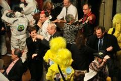 Im Rathaussaal wird getanzt. (Bild: Reto Martin)