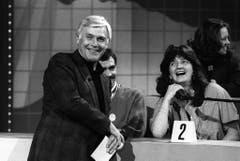 Als TV-Moderator war Blacky Fuchsberger in seinem Element. (Bild: Keystone)