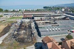 Blick aus der Luft auf das Saurer-WerkZwei. (Bild: Urs Bucher)