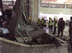 APTOPIX Saudi Crane Collapse (Bild: Keystone)