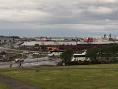 Der Blick auf den Hafen. (Bild: Marion Loher)