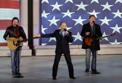 "Countrymusiker Lee Greenwood an der ""Make America Great Again! Welcome Celebration"". (Bild: Keystone)"