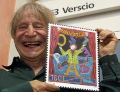 Mit einer Sonderbriefmarke geehrt: Clown Dimitri im Jahr 2006. (Bild: KARL MATHIS (KEYSTONE))