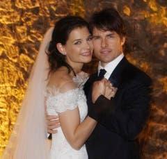 Am 18. November 2006 haben sich Katie Holmes und Tom Cruise in den Hafen der Ehe gewagt. (Bild: Keystone)