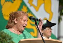 Auch die frischgebackene Grossratspräsidentin ergriff das Wort. (Bild: Reto Martin)
