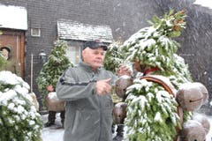 Nomen est omen: Chläus Hörler, OK-Präsident Schwägalp-Schwinget, war beim Silvesterchlausen dabei. (Bild: Patrik Kobler)