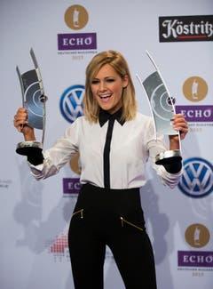 Dafür gewann sie ein Jahr später, 2013, wieder zwei der begehrten Trophäen. (Bild: Keystone)