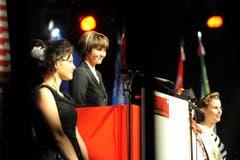 Micheline Calmy-Rey hatte viel Lob für die Musikvereine übrig. (Bild: Hanspeter Schiess)