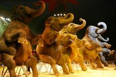 Ein Schnappschuss von einem Elefantenauftritt 2006 in Lausanne. (Bild: Keystone)