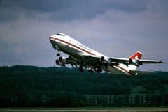 """Diese Boeing 747-257B flog von 1971 bis 1984 für die Swissair und hiess """"Zürich"""". (Bild: ETH-Bibliothek/Bildarchiv/Stiftung Luftbild Schweiz/Oefeli)"""