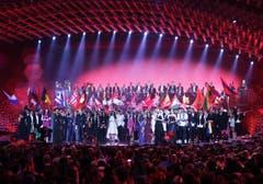 Alle Finalisten auf der Bühne. (Bild: Keystone)