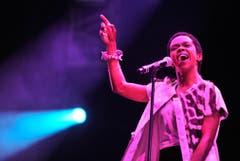 Voller Inbrunst: Lauryn Hill am Openair Frauenfeld. (Bild: Reto Martin)