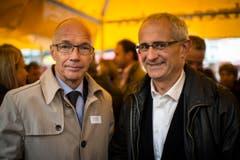 An der Olma 2013: Thomas Scheitlin und Nino Cozzio. (Bild: Benjamin Manser/Archiv)