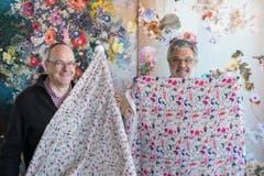 Aus Anlass des 150-Jahr-Jubiläums der diplomatischen Beziehungen zwischen der Schweiz und Japan im Jahr 2014 zeigten St.Galler Textilfirmen japanische Kunst. (Bild: Urs Jaudas)