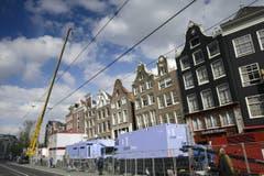 Amsterdam wird für die Einsetzung von König Willem-Alexander zurecht gemacht. (Bild: Keystone)