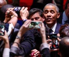 Es war seine letzte Ansprache als 44. Präsident der Vereinigten Staaten, ein letztes Mal wandte er sich an diesem Dienstagabend von Chicago aus mit einem flammenden Appell für Demokratie und Zusammenhalt an die US-Amerikaner. (Bild: Kamil Krzaczynski / Keystone)