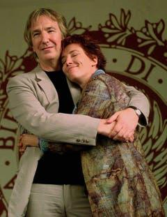 Rickman mit der Schauspielerin Emma Thompson am Filmfestival in Venedig. (Bild: Keystone)