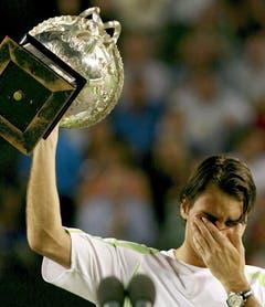 2006 Australian Open gegen Marcos Baghdatis (ZYP) 5:7, 7:5, 6:0, 6:2. (Bild: Dennis M. Sabangan / Keystone)