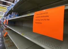 In Panama City, Florida, ist das Wasser in einem Laden vorübergehend ausverkauft. (Bild: Keystone)