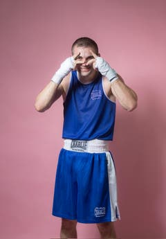 Amateur Ali Adili, Jahrgang 1989, Box Academy Bern. (Bild: Benjamin Manser und Urs Bucher)