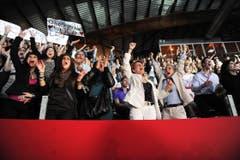 Der grosse Jubel: die Fans von Luca Ruch. (Bild: Nana do Carmo)