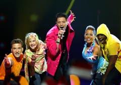 Piero Esteriore & The Music Stars mit «Celebrate!», der wohl grösste Flop aller Zeiten: im Jahr 2004: 0 Punkte und im Halbfinal ausgeschieden. (Bild: Murad Sezer / Keystone)
