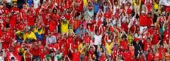 Die Schweizer Fans haben Grund zum Jubeln. (Bild: Keystone)
