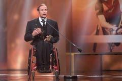Vor rund einem Jahr wurde Hug als Behindertensportler des Jahres an den Credit Suisse Sports Awards ausgezeichnet. (Bild: DOMINIK BAUR (PHOTOPRESS))