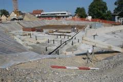 Grundsteinlegung auf der Baustelle des neuen Stadthauses von Amriswil mit dem Namen Pentorama Susann Basler © TZ 4. Juli 2006