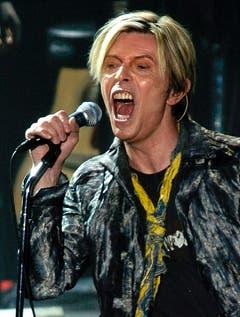 Ausdrucksstark: David Bowie bei einer Show im Jahr 2004 in New York. (Bild: Keystone)