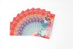 Am 17. 2017 folgte die 20-Franken-Note. (Bild: Keystone/SNB)