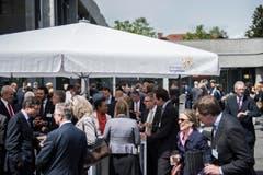 Verschiedene Generationen treffen sich am Symposium in St.Gallen. (Bild: Urs Bucher)