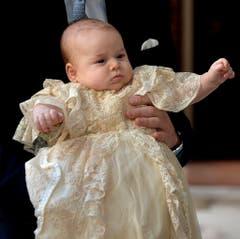 Der Prinz ist bei seiner Taufe drei Monate alt. (Bild: Keystone)