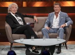"""Im Mai 2017 war David Hasselhoff - mittlerweile mit Schnauz - in der RTL-Talkshow """"Mensch Gottschalk"""" zu Gast. (Bild: Keystone)"""